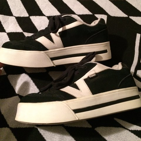e6f4698983 RARE Vans platforms in black and white. In incredible In a a - Depop