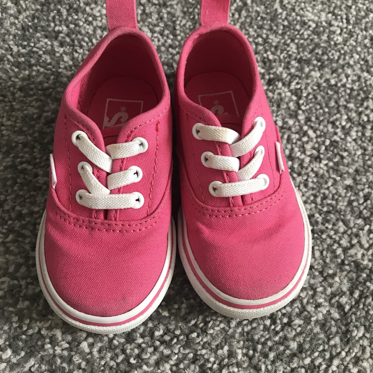 dfcf8bd6342 Red toddler vans Hardly worn Size 5.5 Good condition Baby - Depop