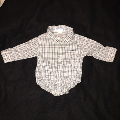 53df96ce2 Janie and Jack baby boy long sleeve cotton button down shirt - Depop