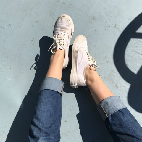 48449bee981a97 White sneakers! Just in time for summer ☀ Well loved eytys - Depop