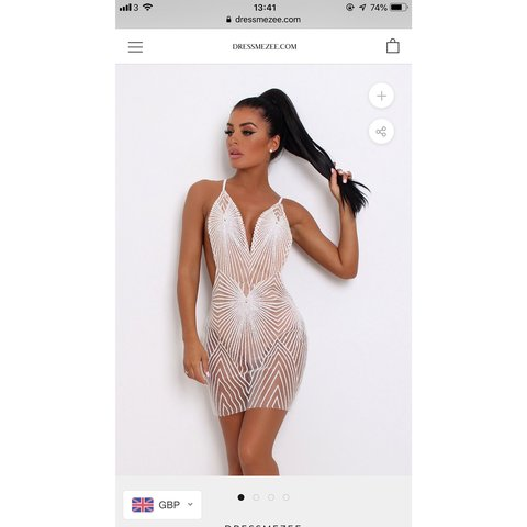 68a29647 DRESSMEZEE BRAND NEW AKELA GLITTER DRESS - WHITE SOLD OUT as - Depop