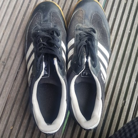 ebeadafa7 @lucybriscoerimmer. 8 months ago. Manchester, Greater Manchester, United  Kingdom. Black Adidas Samba trainers with gum soles good condition