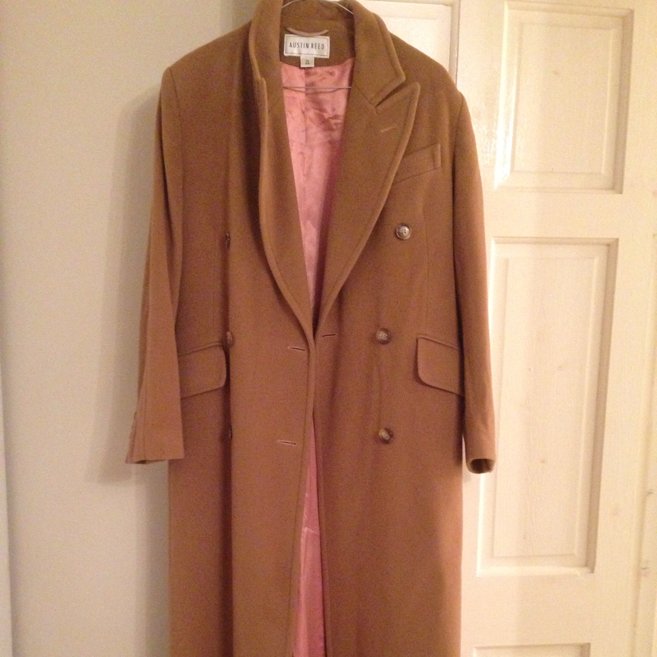 Austin Reed Long Camel Coat Size 10 Second Hand Depop