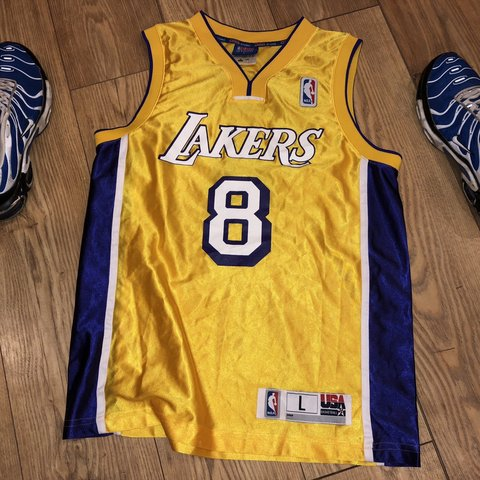 c139a3eb285 Men's LA Lakers basketball jersey and shorts set in large. - Depop