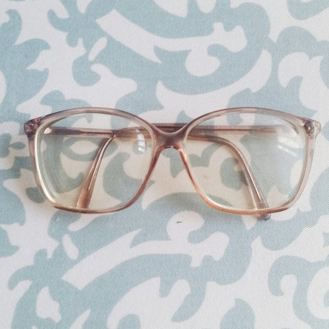 92d18858fea8 SOLD THROUGH MERCARI • clear pink glasses! i got these at do - Depop