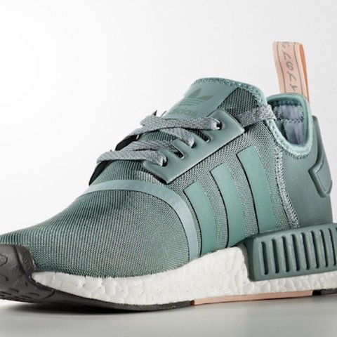 aa9a75498 ... Adidas NMD light green and pale pink trainers. Size 6 never - Depop ...