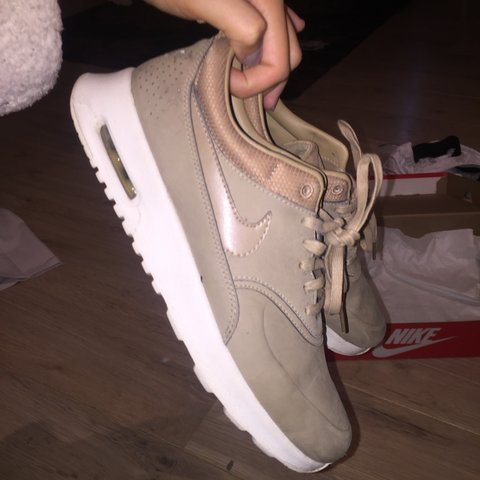 sports shoes c92ce 059ca @katiexxwoodhams. 3 years ago. Horley, Surrey, UK. Nike Air Max Thea Desert  Camo Camel Beige trainers size 5