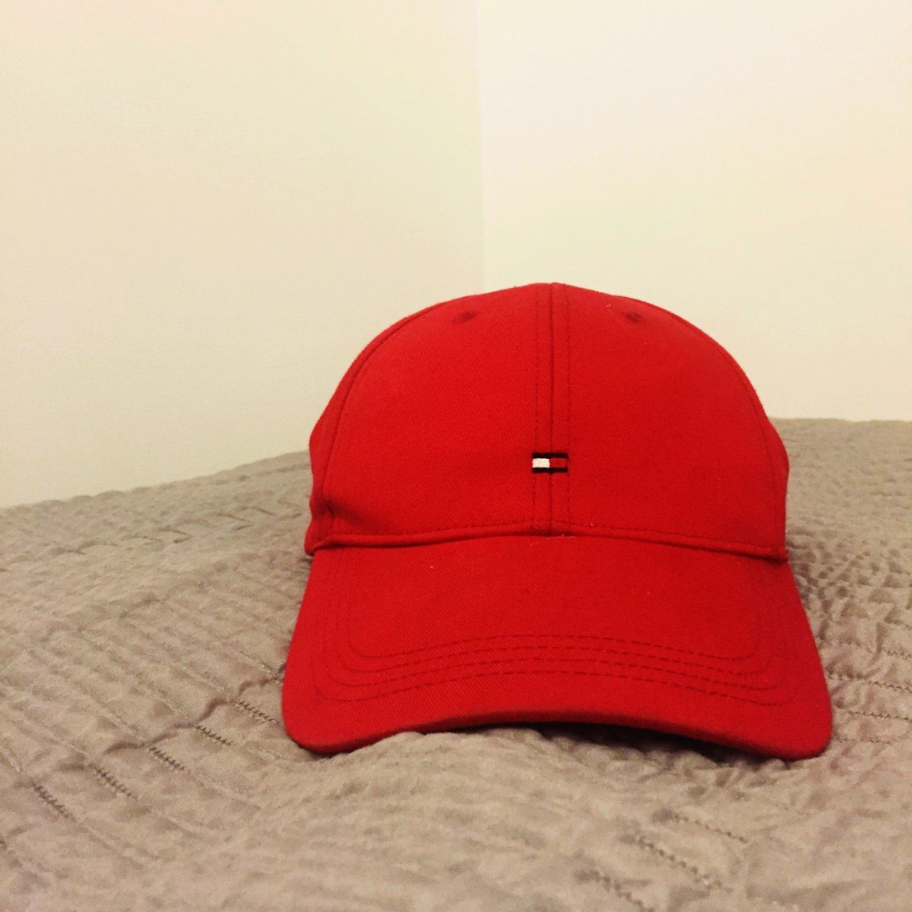 Tommy Hilfiger red cap. 9 10 condition no worn marks ---- - Depop 362c266a442