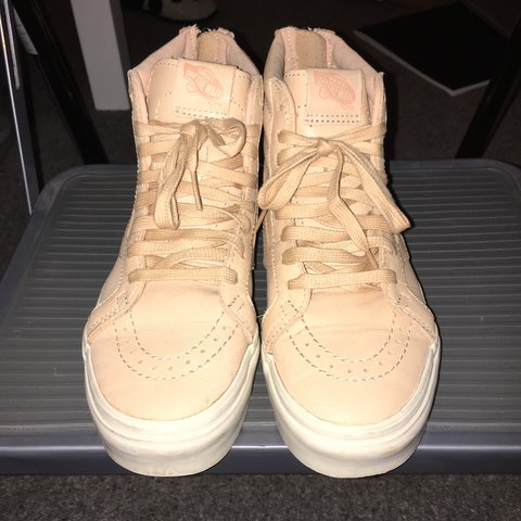 e52dded0e8 Nude pink vegan leather sk8 hi Vans. No box included will be - Depop