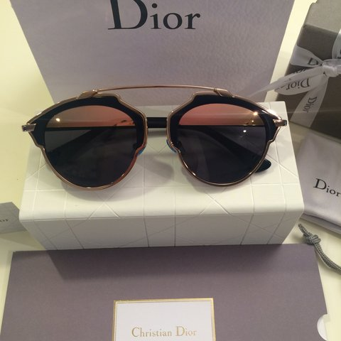 fd7d7bb87a3a4 Dior so real sunglasses. Navy rose gold. Soreal. Loved by in - Depop