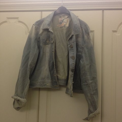 6c613a266d2 Plus size cropped denim jacket size22