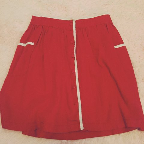 2f0c369d19 @sanogy. 2 years ago. Chicago, IL, USA. Adorable retro style red button up  skirt ...