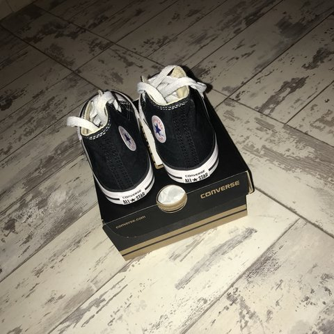 92858b3602206c Black high top converse. Uk toddler size 6! Excellent - Depop