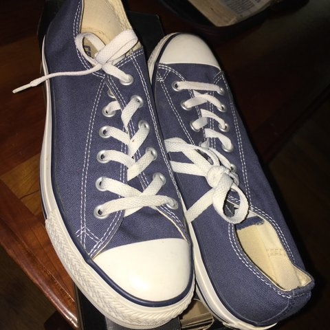 420c1218c0ae CLASSIC CONVERSE CHUCK TAYLORS IN A NAVY COLOR. SIZE 8 Mens - Depop