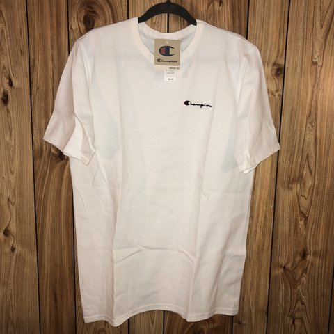 ff4e168b18c9 CHAMPION WHITE HERITAGE TEE NEW w  TAGS (PacSun) MENS to - Depop