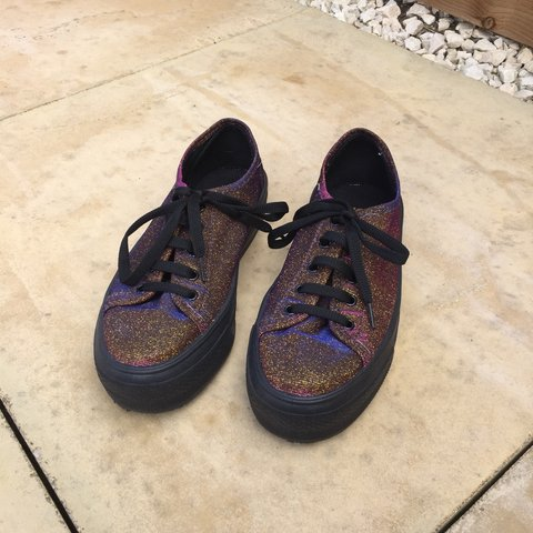 e220749e64 sparkly gold pink vans like shoes from Schuh