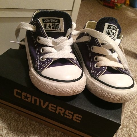 a48cd8036e89 Toddler Converse Blue Size 5 ... Worn only twice forgot I so - Depop