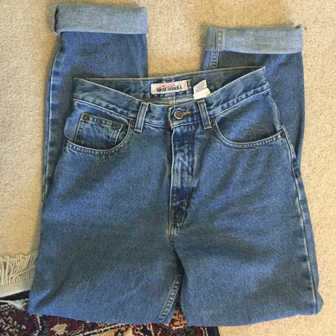 The Perfect High Waisted Straight Leg Mom Jeans Waist A Of Depop