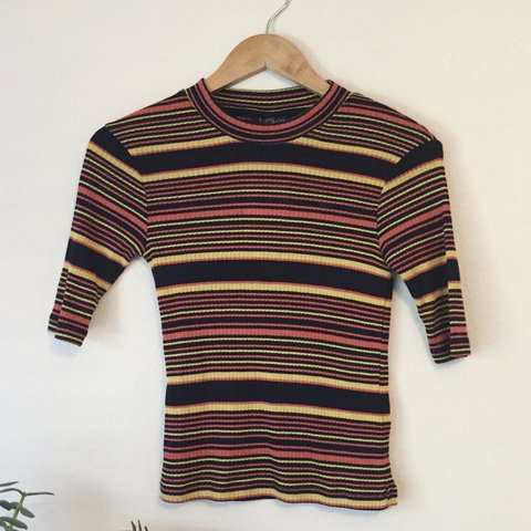 c53f7a84730 Brand new with tags Topshop striped ribbed top. Retails for - Depop