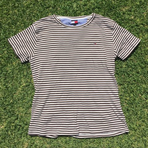 cd4113e12 @marissa_pennino. 3 years ago. Los Angeles, CA, USA. Tommy Hilfiger women's  striped tee. Labeled ...
