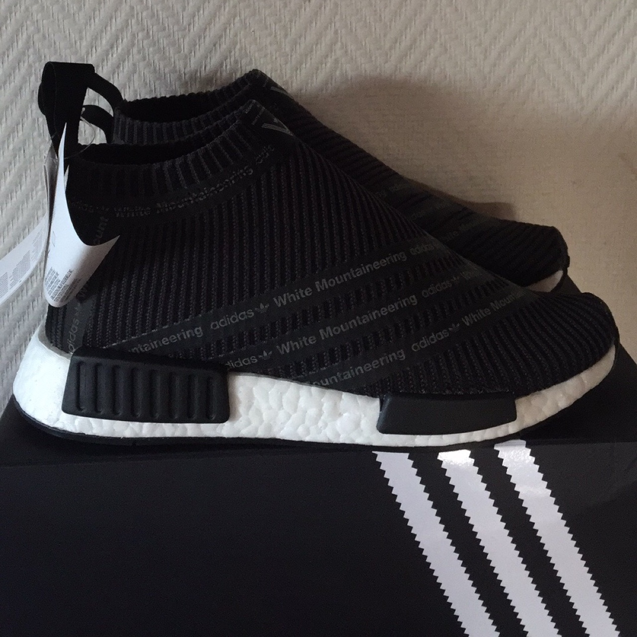 release date: 549b8 9a187 Adidas x White Mountaineering NMD City Sock (black ...