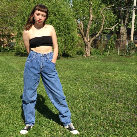 273aabee3070d These jeans make me wanna kick some A S! Very badass vintage - Depop