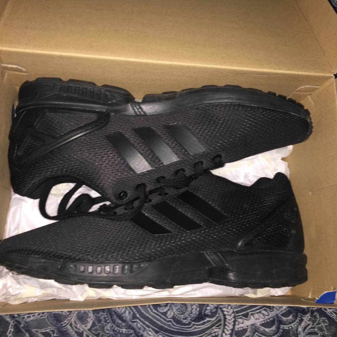 new styles 2ab94 0ef6f Mens Adidas ZX Flux Triple Black. Size 9. Condition... - Depop