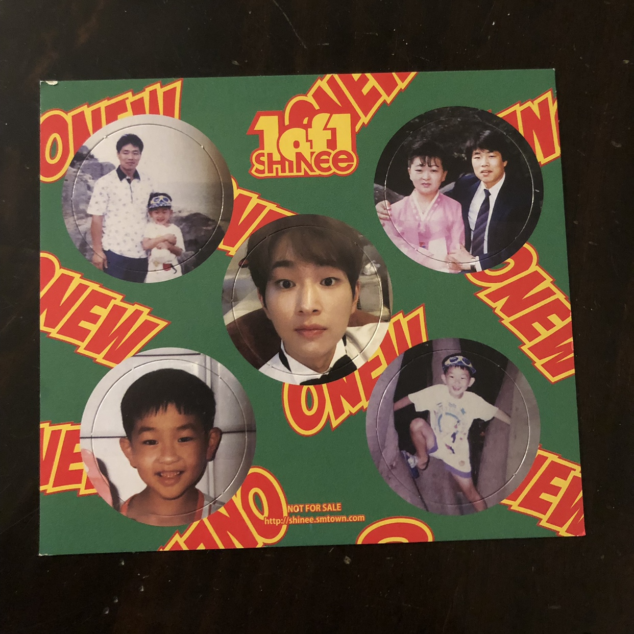 ONEW 1 OF 1 PHOTO CARD pop out circles  new     - Depop