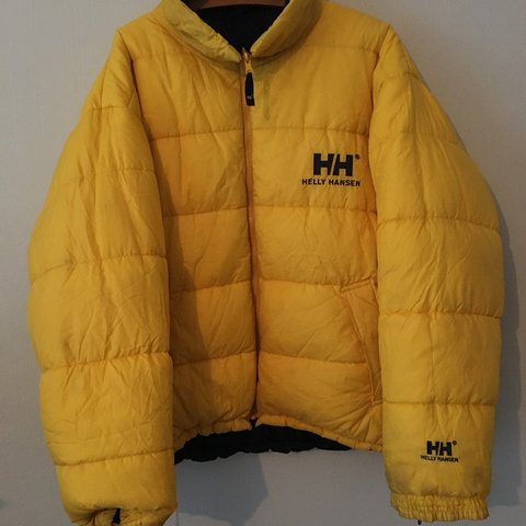 64e2454df6c @nxhhhh. last year. United Kingdom. Vintage retro Helly Hansen reversible  down puffer jacket ...
