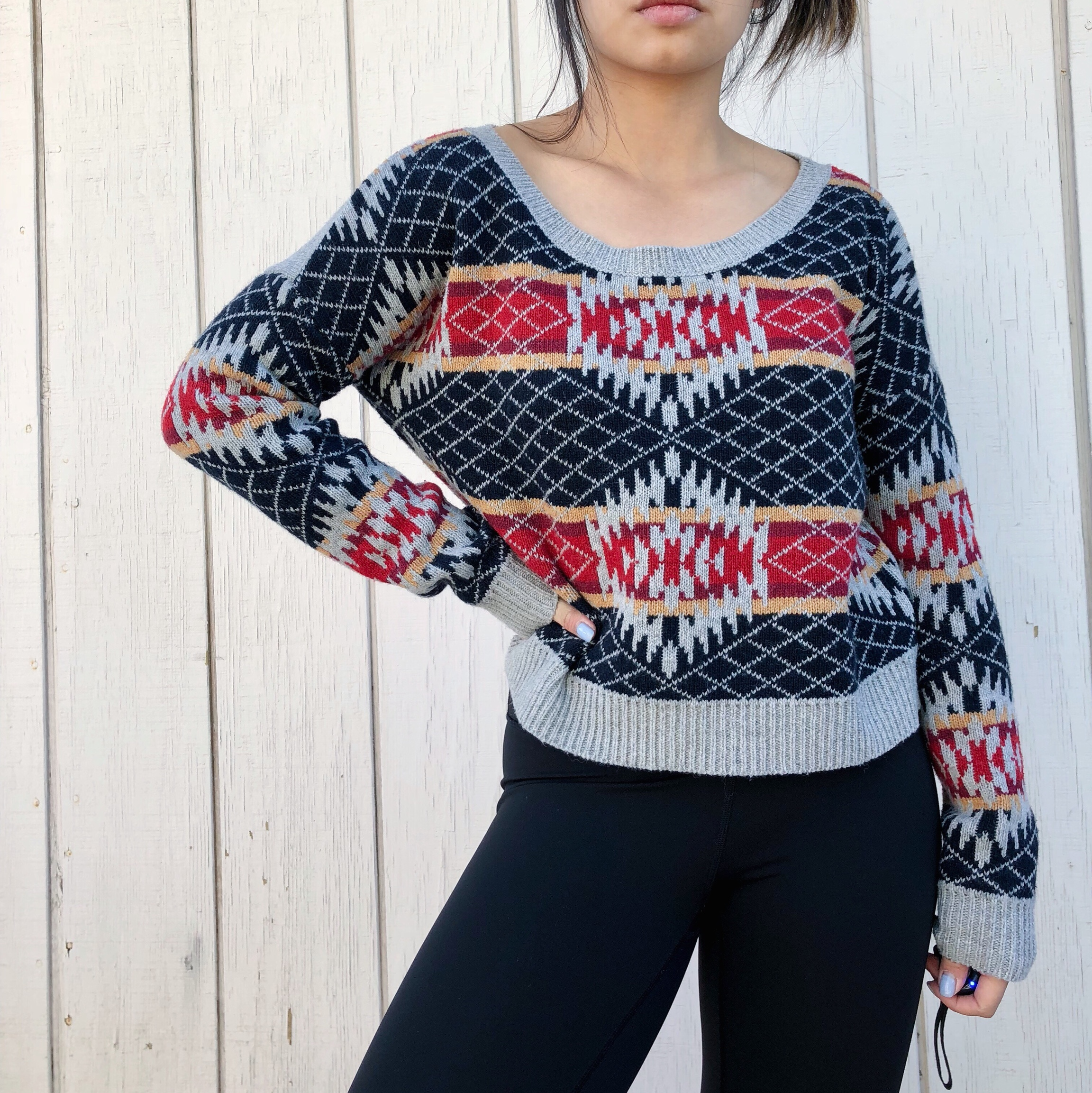 Urban Outfitters Ugly Christmas Sweater.Urban Outfitters Ugly Christmas Sweater Grey Long
