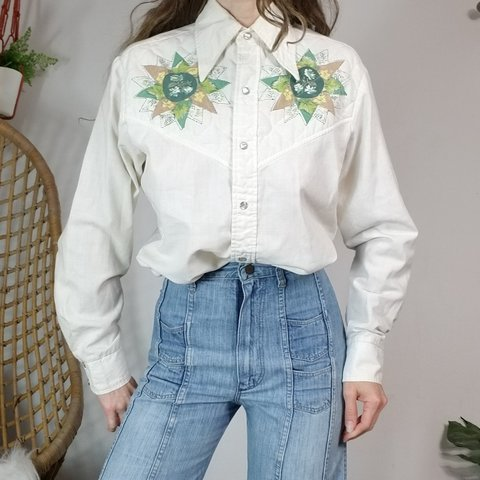 67221d2f 70s Vintage Kennington Western Shirt iconic western style - Depop