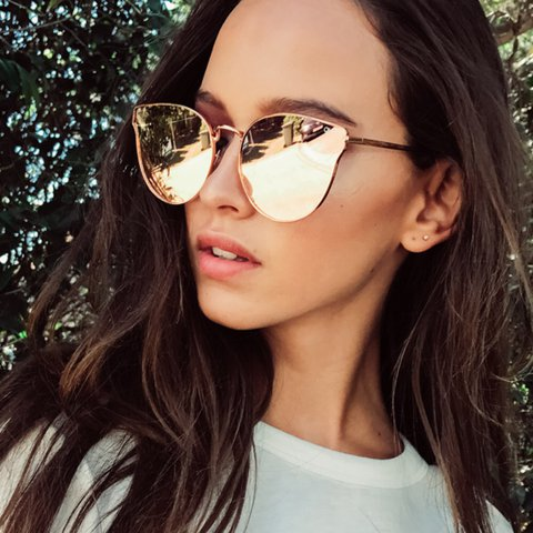 a0eb74130a  alexaeveraert. 10 months ago. United Kingdom. Quay All My Love cat eye  rose gold sunglasses. Perfect condition