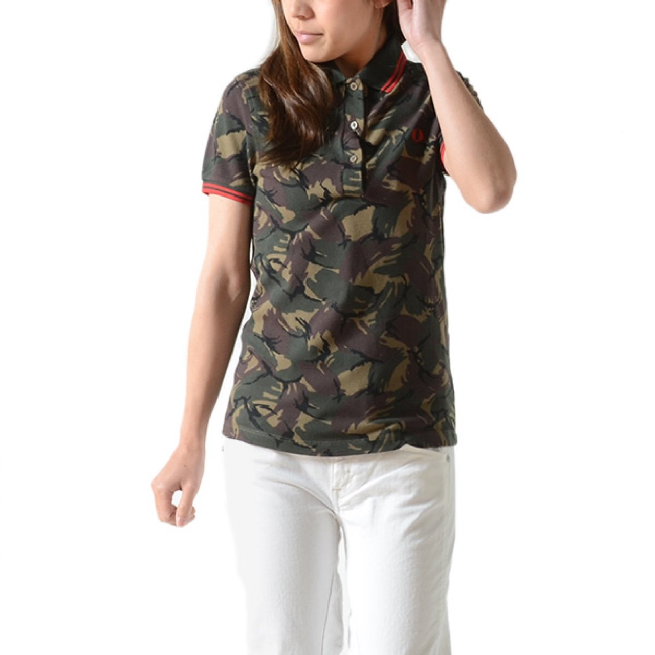 Fred Perry camouflage polo womens  fredperry  women  camo - Depop 593b01af3