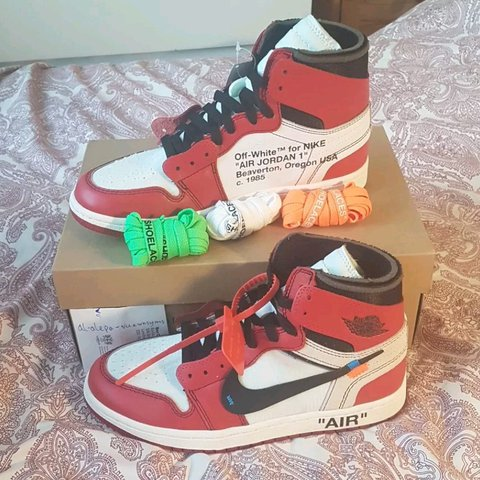 Nike Air Jordan 1 X Off White Shoes Size Uk 6 5 Us 7 5 From Depop