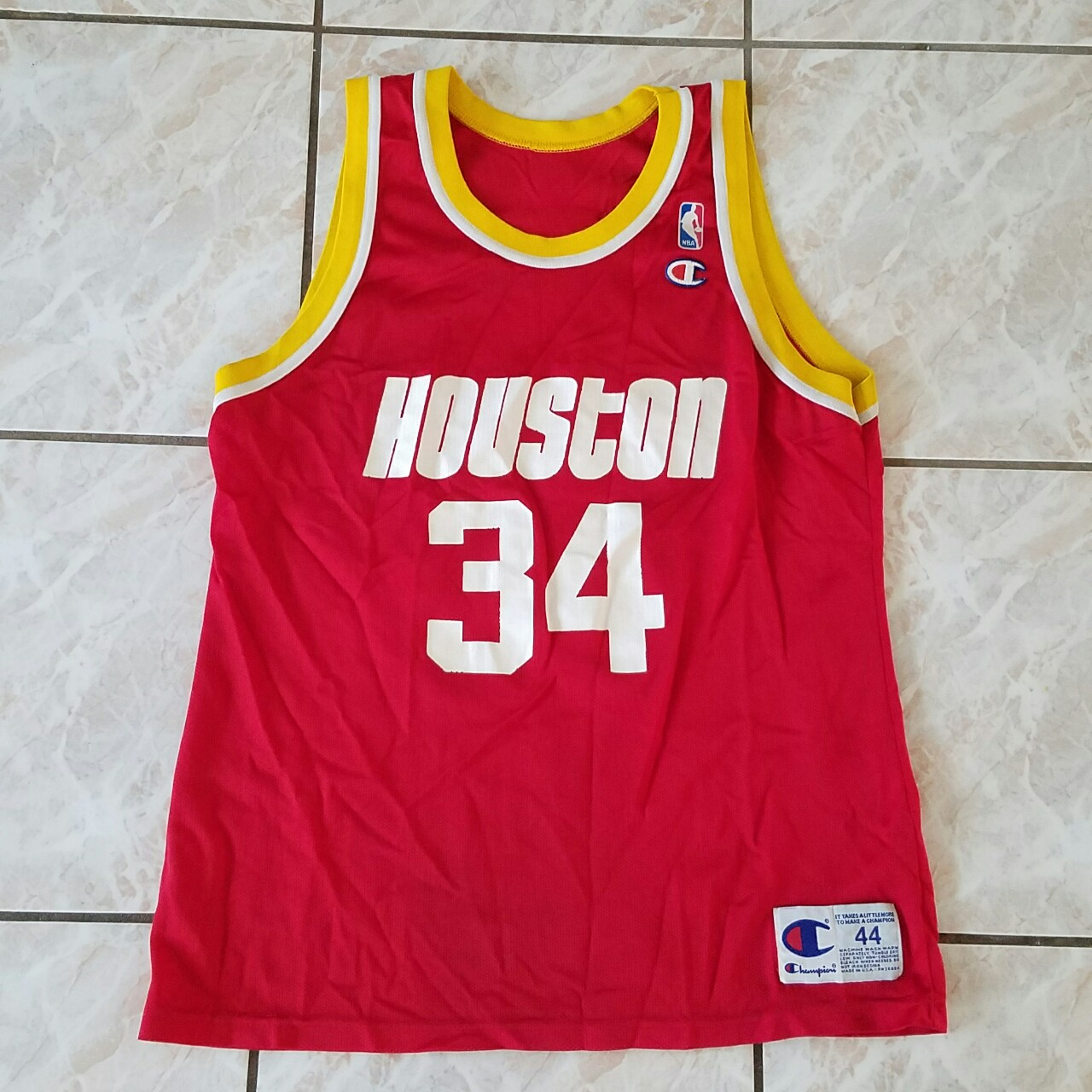 new product 6545d b4855 Vintage Houston rockets champion jersey can fit... - Depop