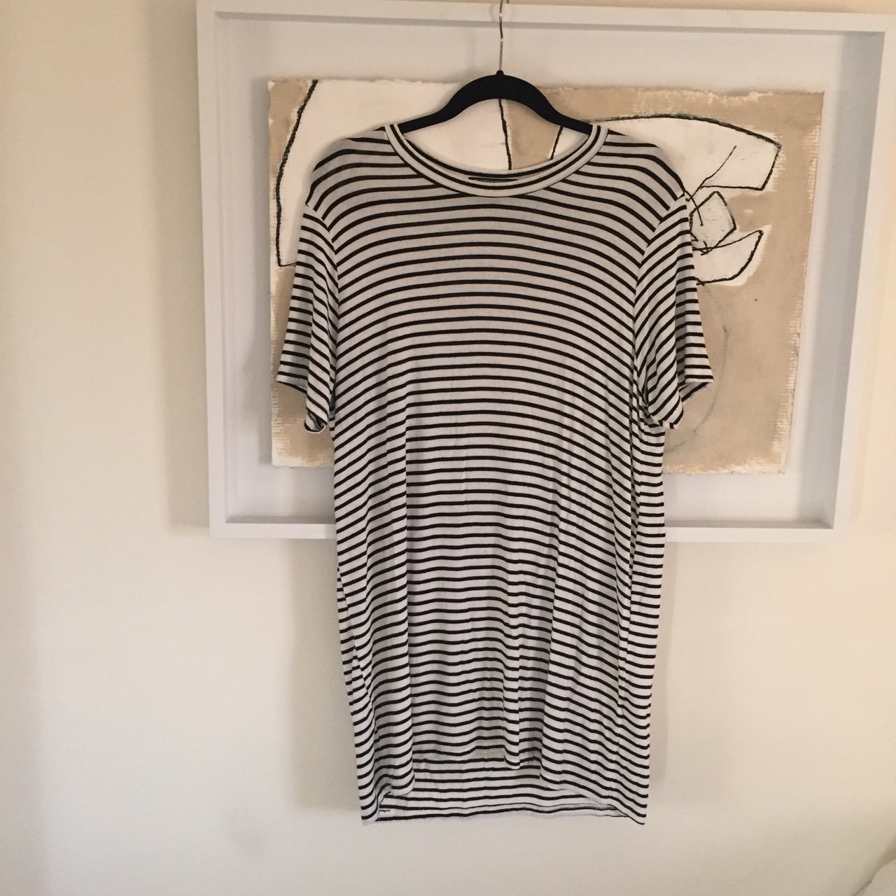 505bc31983df RESERVED** Brandy Melville Striped T Shirt Dress (one | to - Depop