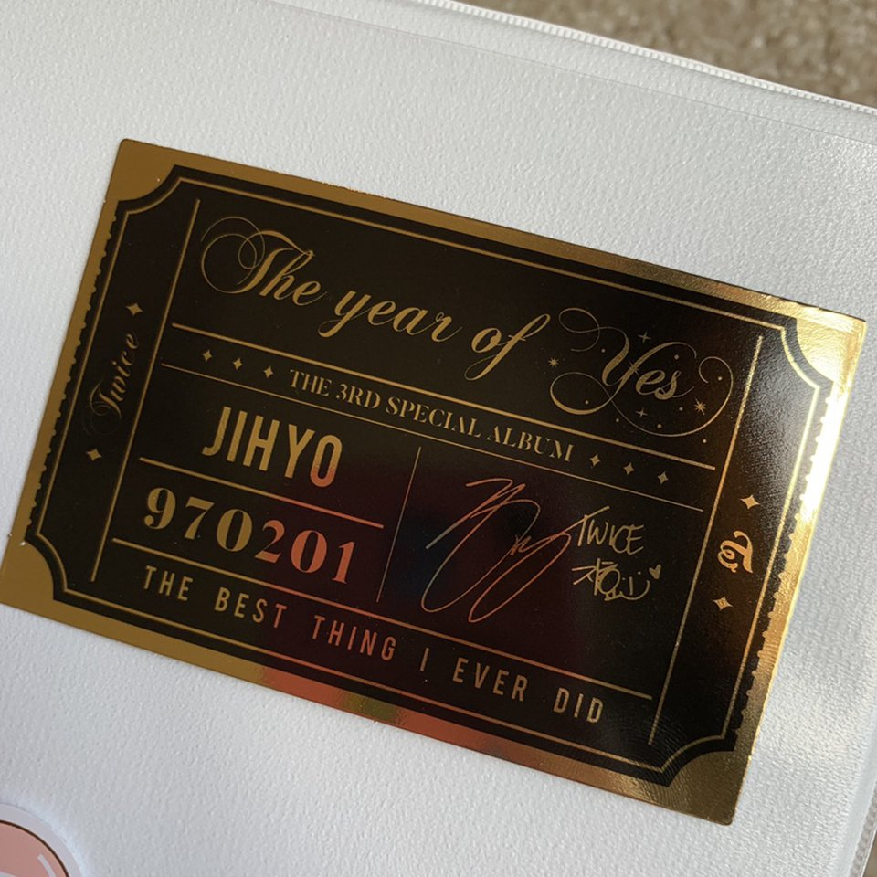 Twice Offical The Year of Yes Jihyo Photocard!    - Depop
