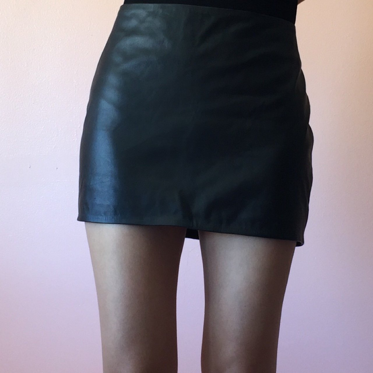 4078c0ba4 Because a leather mini skirt is a wardrobe essential, grab I - Depop