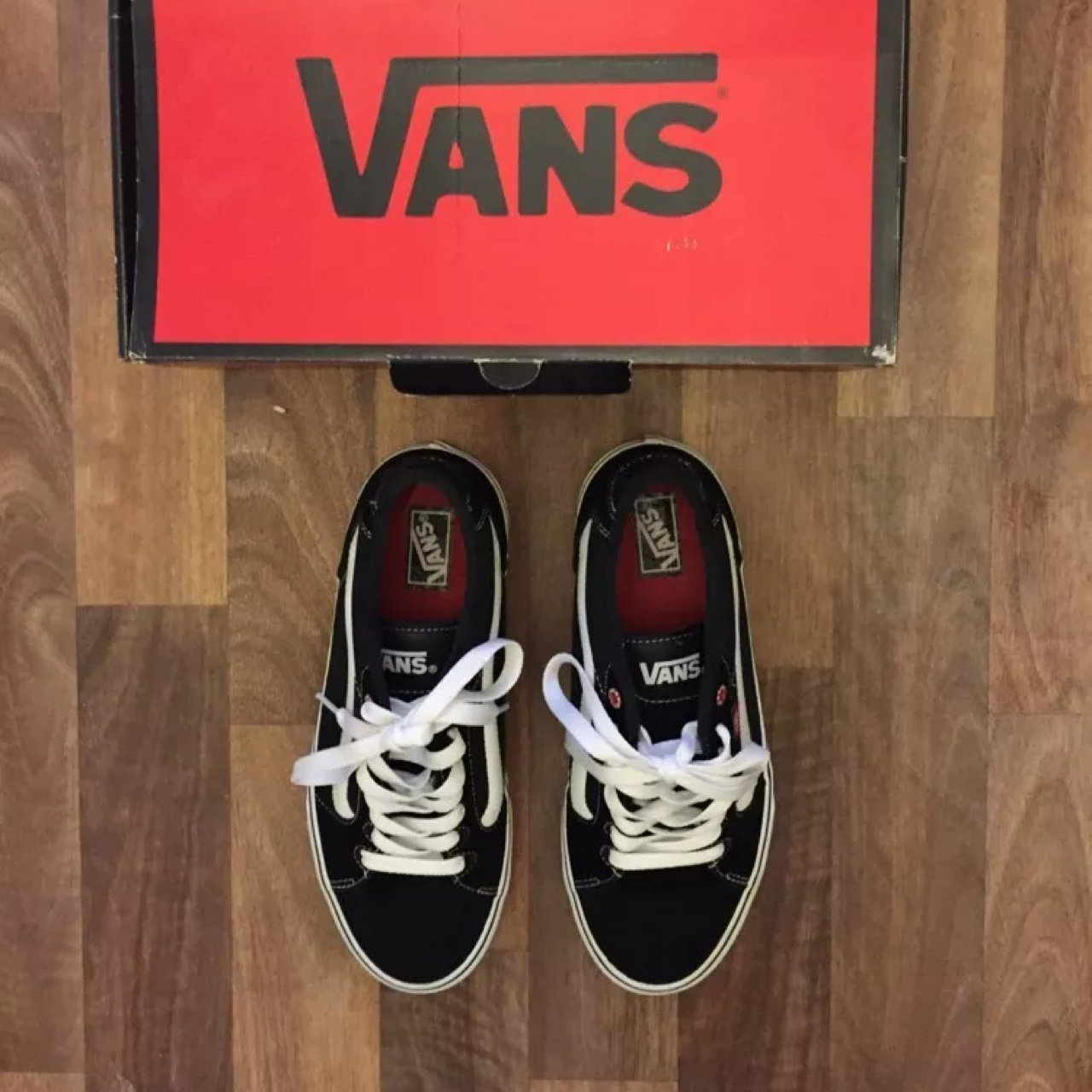 6e7ef2ef81ad Black and white vans old skool classic authentic style size depop jpg  1280x1280 Vans authentic sk8