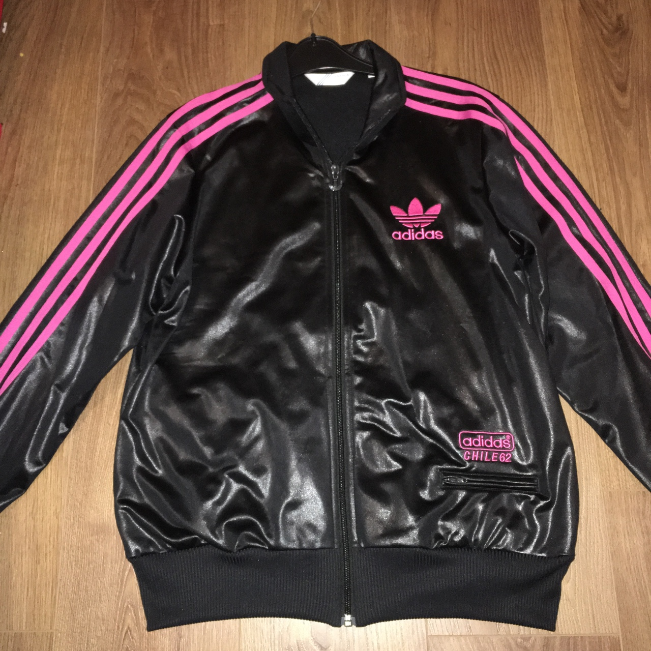 Adidas Originals Chile 62 Vintage Jacket Black & Depop