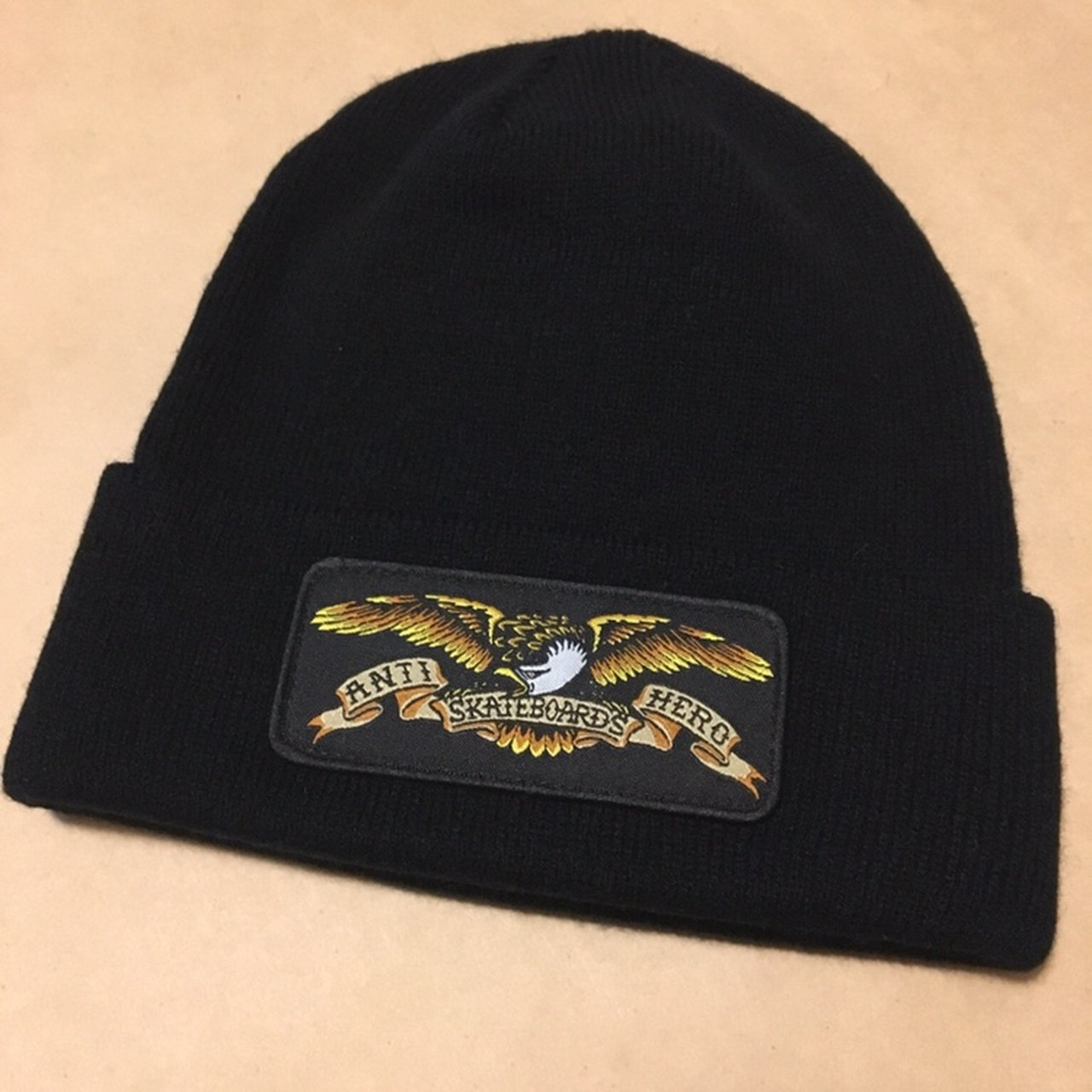 NEW ANTI HERO BEANIE IN BLACK. NEW WITH NO TAGS AND SHIP - Depop be3cc59c7ef