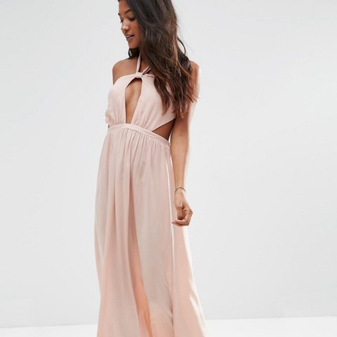 65444774b38 ASOS halter neck maxi dress. Can be worn for the beach or 6 - Depop