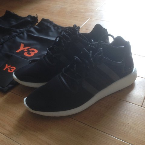 7a0ff833c7852 Rare Adidas y3 yohji run yeezy trainers shoes black and size - Depop
