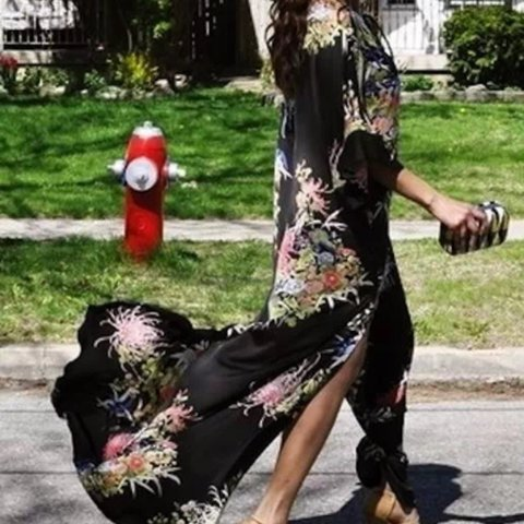 434fca162 Zara kimono maxi dress. Currently on eBay for £149.00. Size - Depop