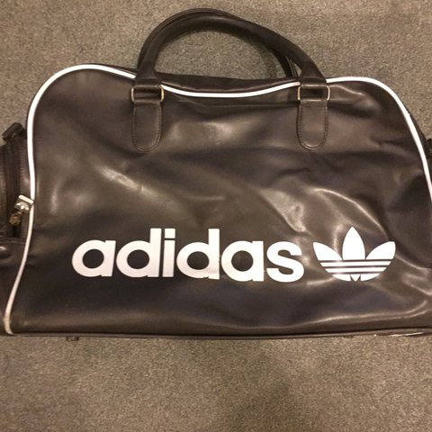 15c4cf83d2 @ashwarner. 2 years ago. Tuffley, United Kingdom. Vintage Adidas originals  holdall day bag. Brown leather. In good used condition