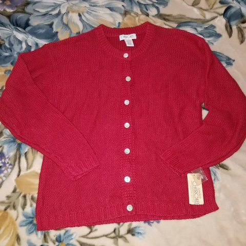 a6ab87105cf4 Vintage Candy Apple Red Knitted Cardigan