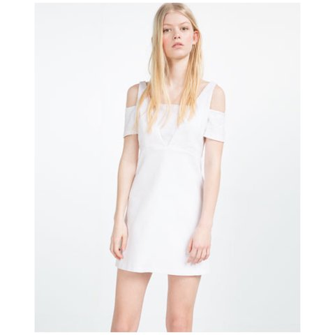 Mwt zara white textured weave dress sz s this is a brand it depop mightylinksfo