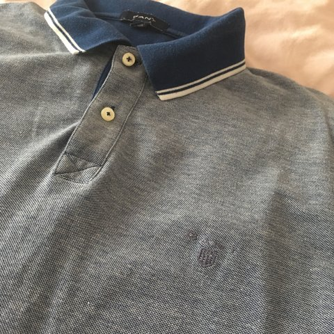 5bd04d91c1467d Men s Gant polo shirt in beautiful blue x - label says XL a - Depop
