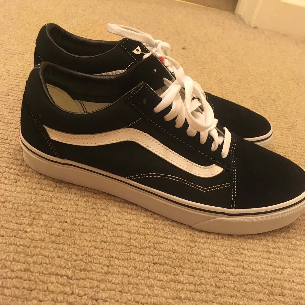 Vans classic old skool trainers Black and white Brand new   - Depop 97e03f522