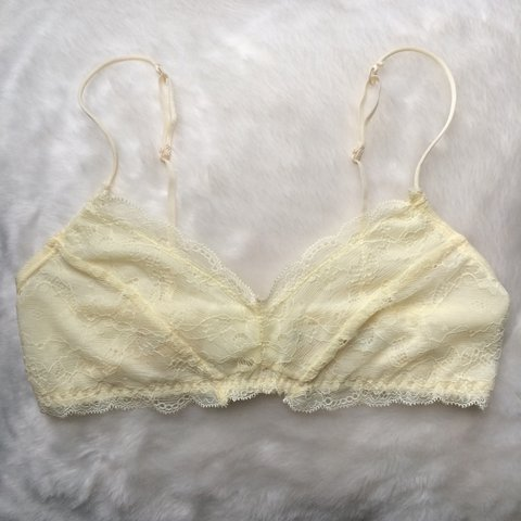 d67ff9fae5e5a1 urban outfitters  pins and needles lace bralette -ivory ~ ~ - Depop